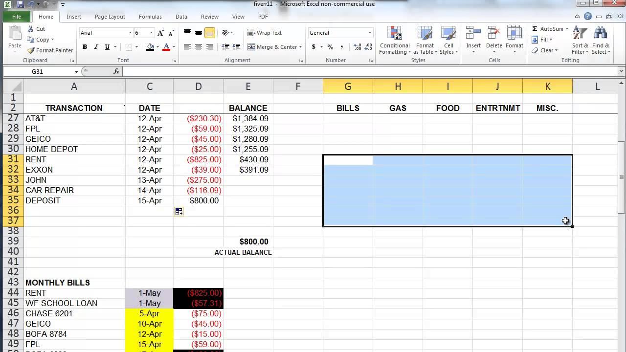 Độ phổ biến củaMoney in Excel
