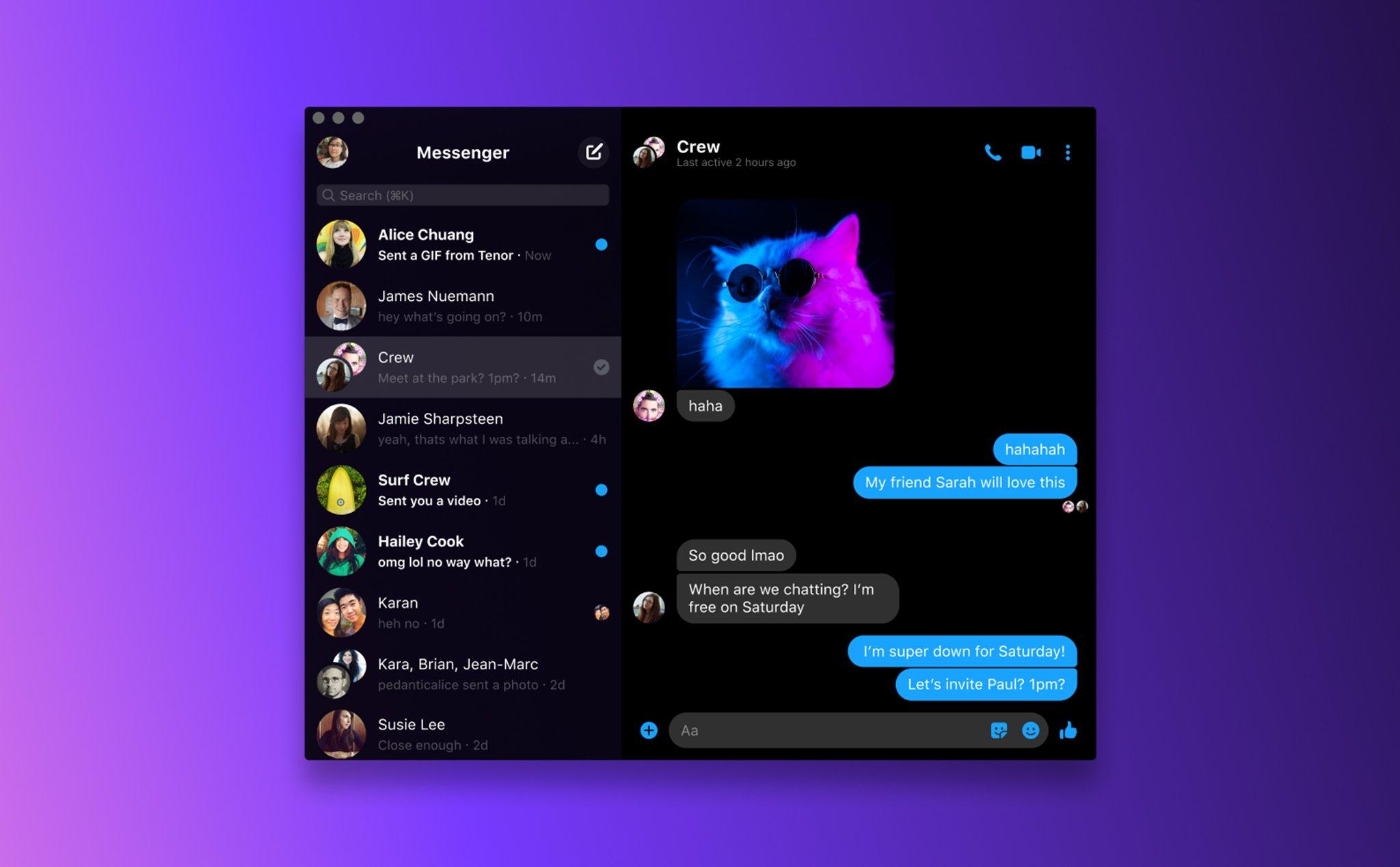 Ứng dụng Facebook Messenger trên máy tính chính thức được phát hành