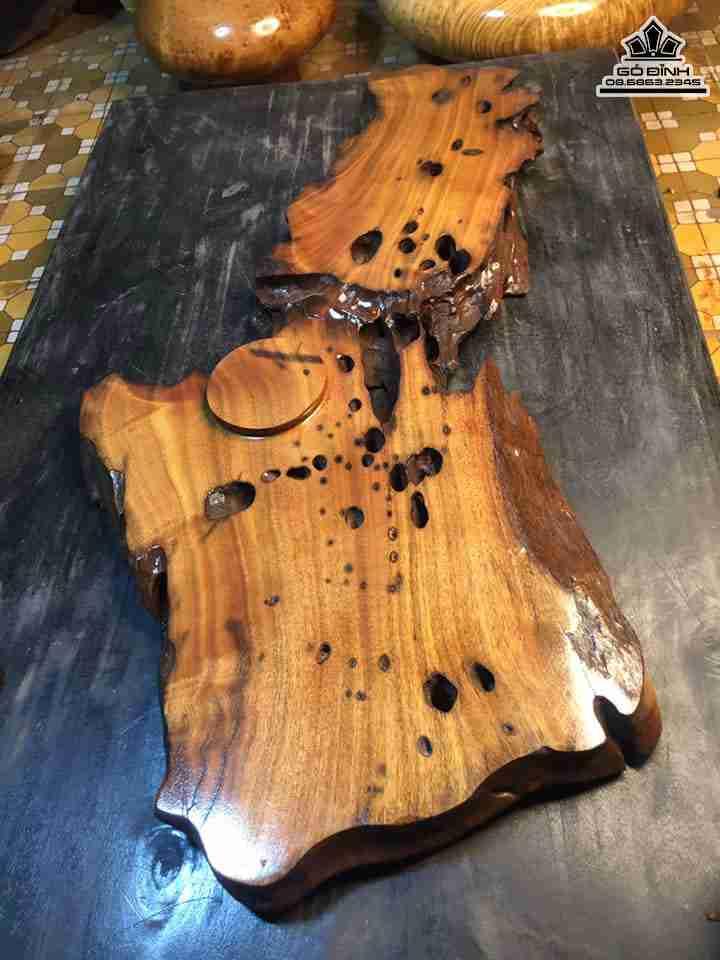 Khay trà gỗ lũa gỗ Xá Xị