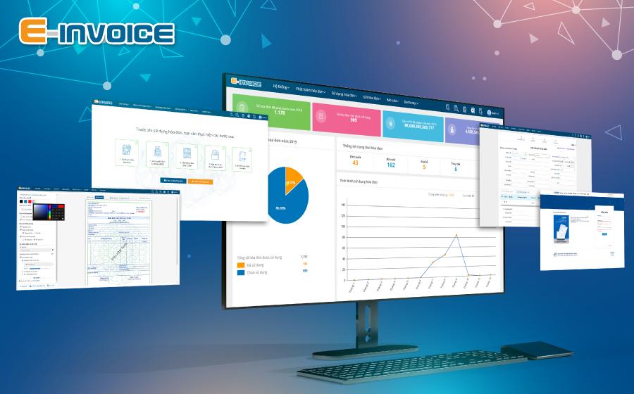 Thiết kế mẫu hóa đơn trên phần mềm E-invoice đơn giản nhanh chóng.