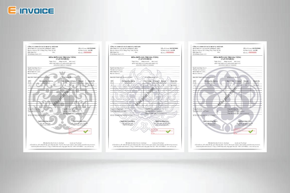 Mẫu hóa đơn có họa tiết màu xám bạc tương sinh với người mệnh Kim.