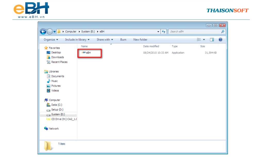 Phần mềm BHXH điện tử eBH được tải về máy tính cá nhân.